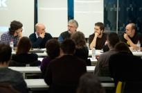 Un momento de la mesa redonda con Lluís M. Abián, André Letria, Xan López Domínguez, Kike de la Rubia y Sergio Alfonso 'Animatomic' • Foto: Irene Medina